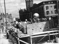 Building an Air Raid Shelter, Brisbane, 1942
