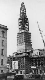 City Hall clock tower under construction (SLQ Neg 17179)