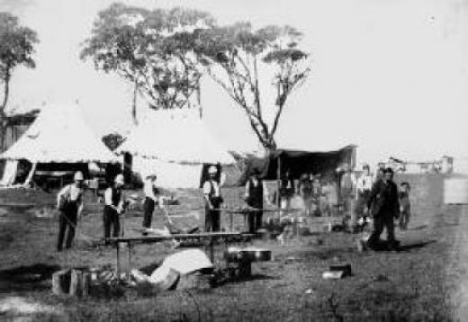 Soldiers at Fort Lytton, ca 1900 SLQ Neg 124707