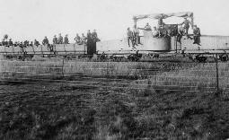 Troop train at Enoggera, 1917